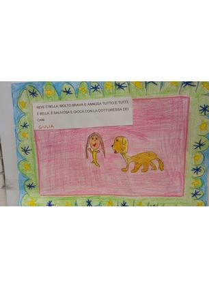"""""""Amici a 4 zampe"""" contro il bullismo, l'esperienza raccontata nei disegni dei bambini delle scuole primarie"""