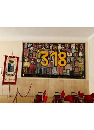 """Bekaert, l'opera """"318"""" di Decembri installata in Consiglio comunale"""