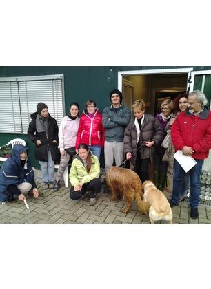 Giornata di solidarietà al canile di Forestello: donati croccantini e scatolette ai cani